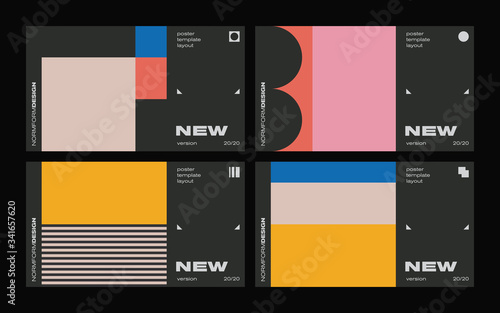 New Modernism Vector Poster Template Design Wallpaper Mural