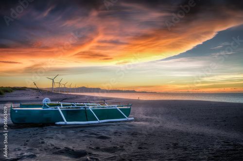 Scenic View Of Sea Against Sky During Sunset Fototapete