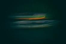 Boats In Lake At Night