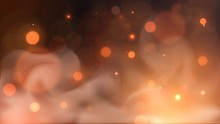 Vector Blurry Flame And Sparks On A Dark Background, Orange Bokeh Fire With Smoke