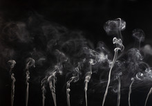 Abstract Smoke On A Dark Backg...
