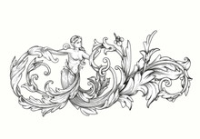 Decorative Element With A Woma...