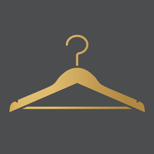 Golden Clothes Hanger Icon- Ve...