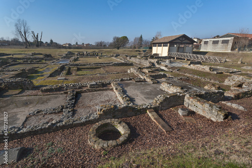Panoramic view of roman ruins in Aquileia, Italy Canvas Print