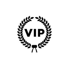 VIP Icon, Isolated Logo On A White Background