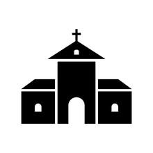 Monastery Building Icon. Abbey...