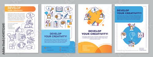 Photo Develop your creativity brochure template