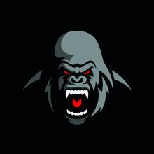 Angry Gorilla Logo Design  Vec...