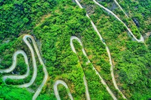 Aerial View Of Hilly Roads