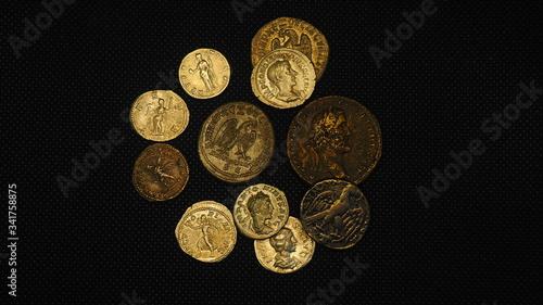 Cuadros en Lienzo Monedas antiguas