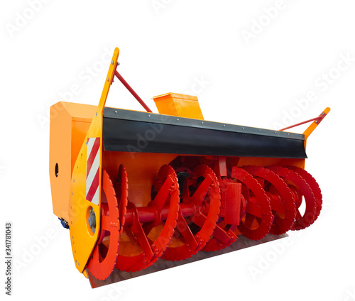 Mounted milling and rotor snow removal equipment for the maintenance of the airf Canvas Print