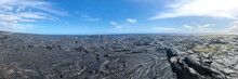 Panoramic View Of Lava Flows I...