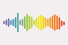 Colorful Sound Waves. Isolated...