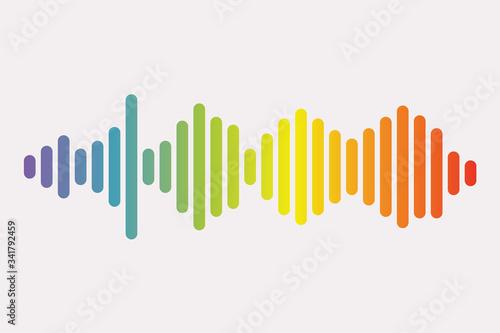 Cuadros en Lienzo Colorful sound waves