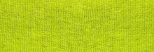 Bright Yellow Woven Thread Texture Pattern. Light Colorful Yellow Fabric Background. Yellow Color Clothes Design, Horizontal Blank Wallpaper