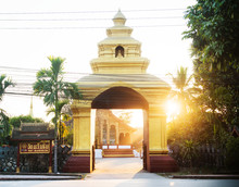Entrance To Wat Manorom Temple...