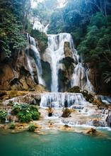Kuang Si Falls, Luang Prabang,...