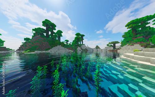 Leinwand Poster Fond d'écran Minecraft #4