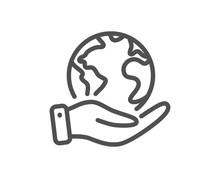 Global Business Line Icon. Sav...