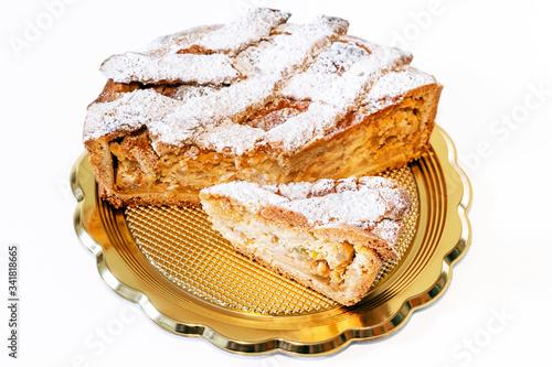 Obraz na plátně Italian food traditional pastiera napoletana