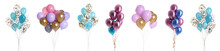 Set Of Different Color Balloon...