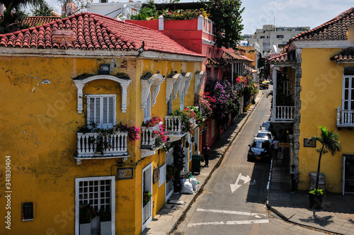 Cartagena houses ,Colombia