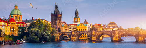 Charles Bridge, Old Town and Old Town Tower of Charles Bridge, Prague, Czech Republic Canvas Print
