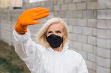 Woman In Black Mask, White Pro...