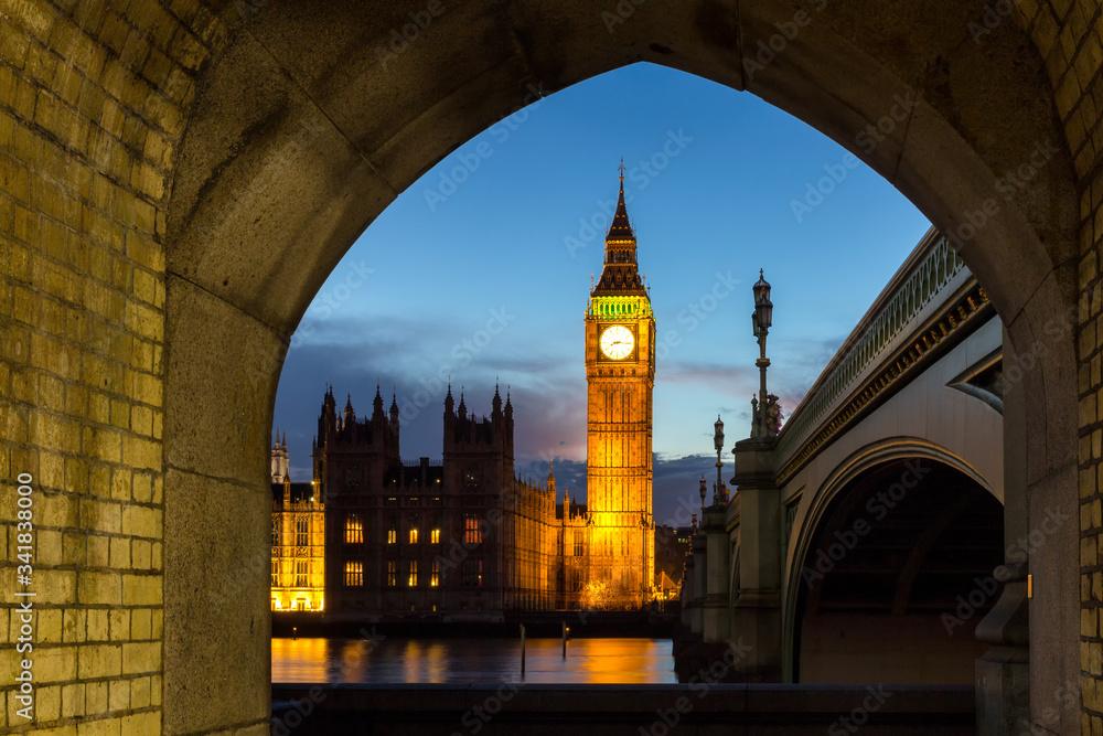 Fototapeta Big Ben and Houses of parliament, London, UK