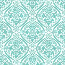 Decorative Damask Pattern. Vin...