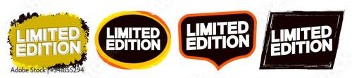 Fototapeta Set Limited Edition tags design template, promo banners, vector illustration