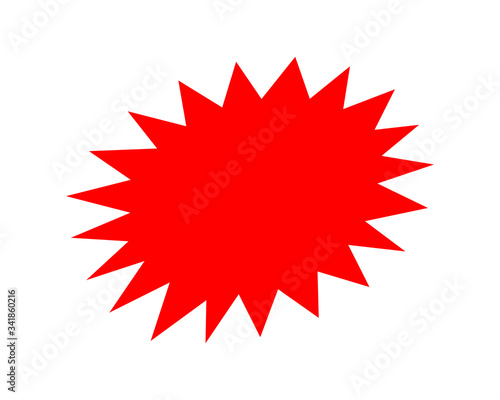 Obraz na plátně stickers red for discount price message, chat label serrated shape, sticker star