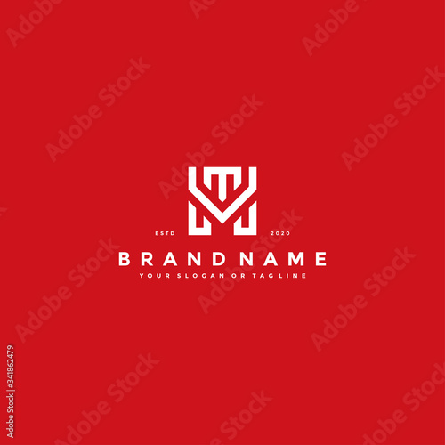 Obraz na plátně letter MT logo design vector