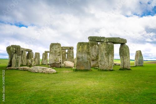 Fotografie, Tablou Salisbury, England 18 apr 2017 Stonehenge an ancient prehistoric stone monument near Salisbury, Wiltshire, UK