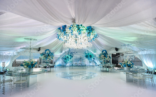 Canvas Print Wedding ceremony in a beautiful tent