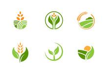Farming And Agriculture Logo Design Vector