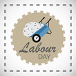 Vector illustration of a background or Poster For Labour Day.