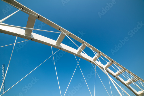Abstract architecture detail of bridge arches and bows