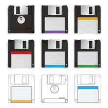 Floppy Disk Vector Illustration