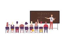 Male Math Professor Teaching S...