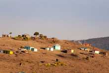 Rural African Village Or Homes...