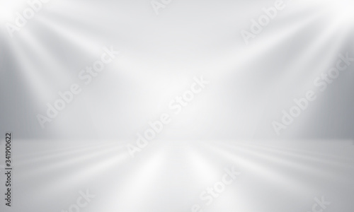 Fototapety, obrazy: abstract  studio room background for product show with Elegant light , gray and white abstract. gradient surface luxury and clean for Medical or jewelry backgrounds