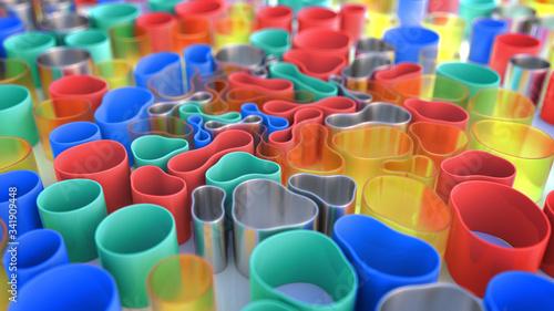 Fotografija Multicolored 3D composition