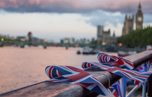 British Flags By Thames River ...
