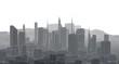 canvas print picture - city metropolis architectural landscape 3d illustration