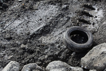 Tire On Rocky Surface