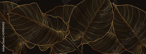 Fotografia Luxury gold nature background vector