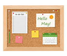 Hello, May.Cork Board With To ...