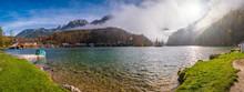 Mountain Alpine Autumn Misty M...