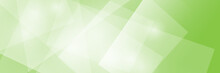Green Banner With Bright Trans...
